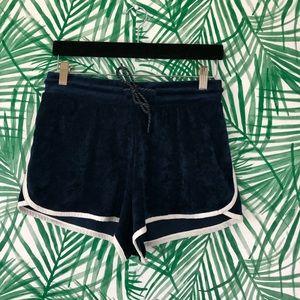 Fila Blue Velvet Athletic Booty Shorts Size Medium